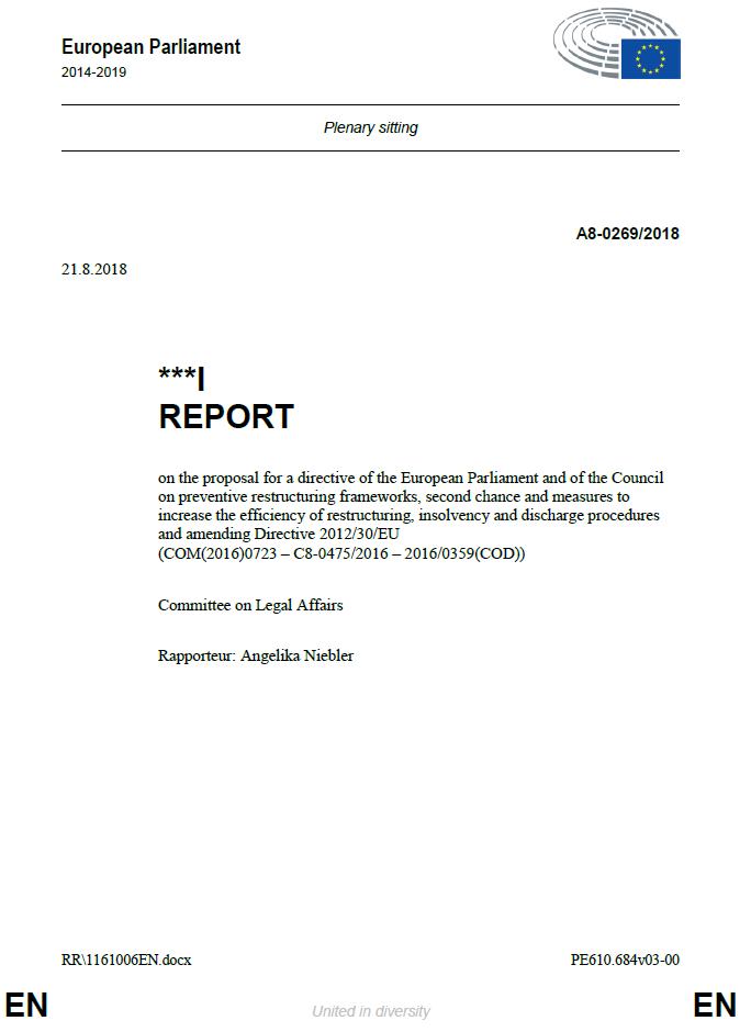 Die Diskussion zum Richtlinienvorschlag gerät auf Abwege – der Bericht des EU Parlaments ist da