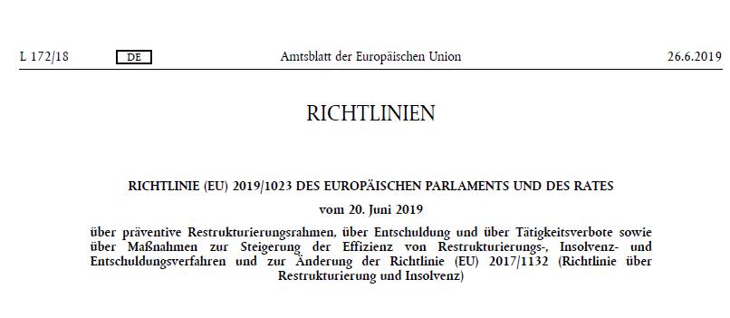 Der deutsche Restrukturierungsrahmen – Anregung einer zivilrechtlichen Umsetzung